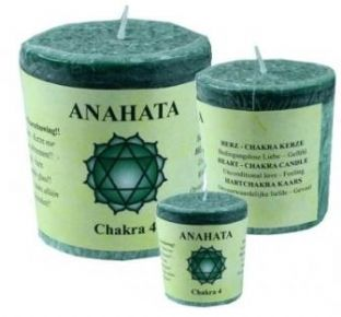 Chakra Votive Candle - 4th Chakra - Heart - Green - Lavandin, Orange and Tangerine